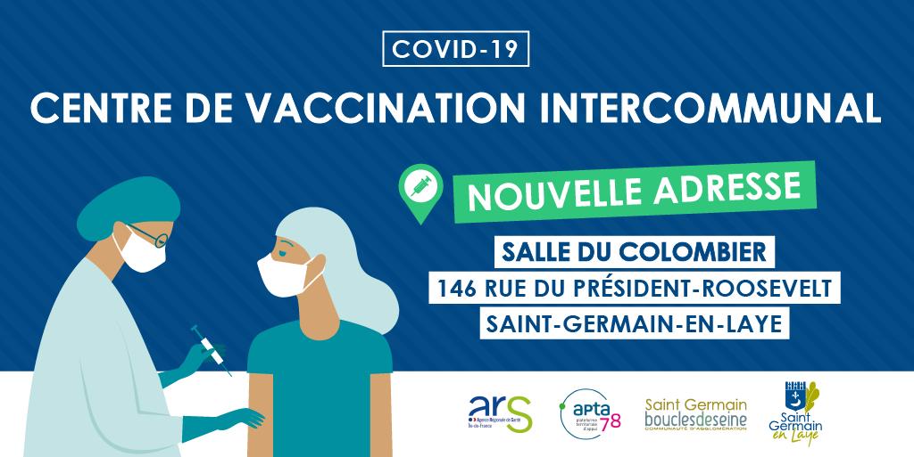 Le centre de vaccination intercommunal de Saint-Germain-en-Laye change d'adresse