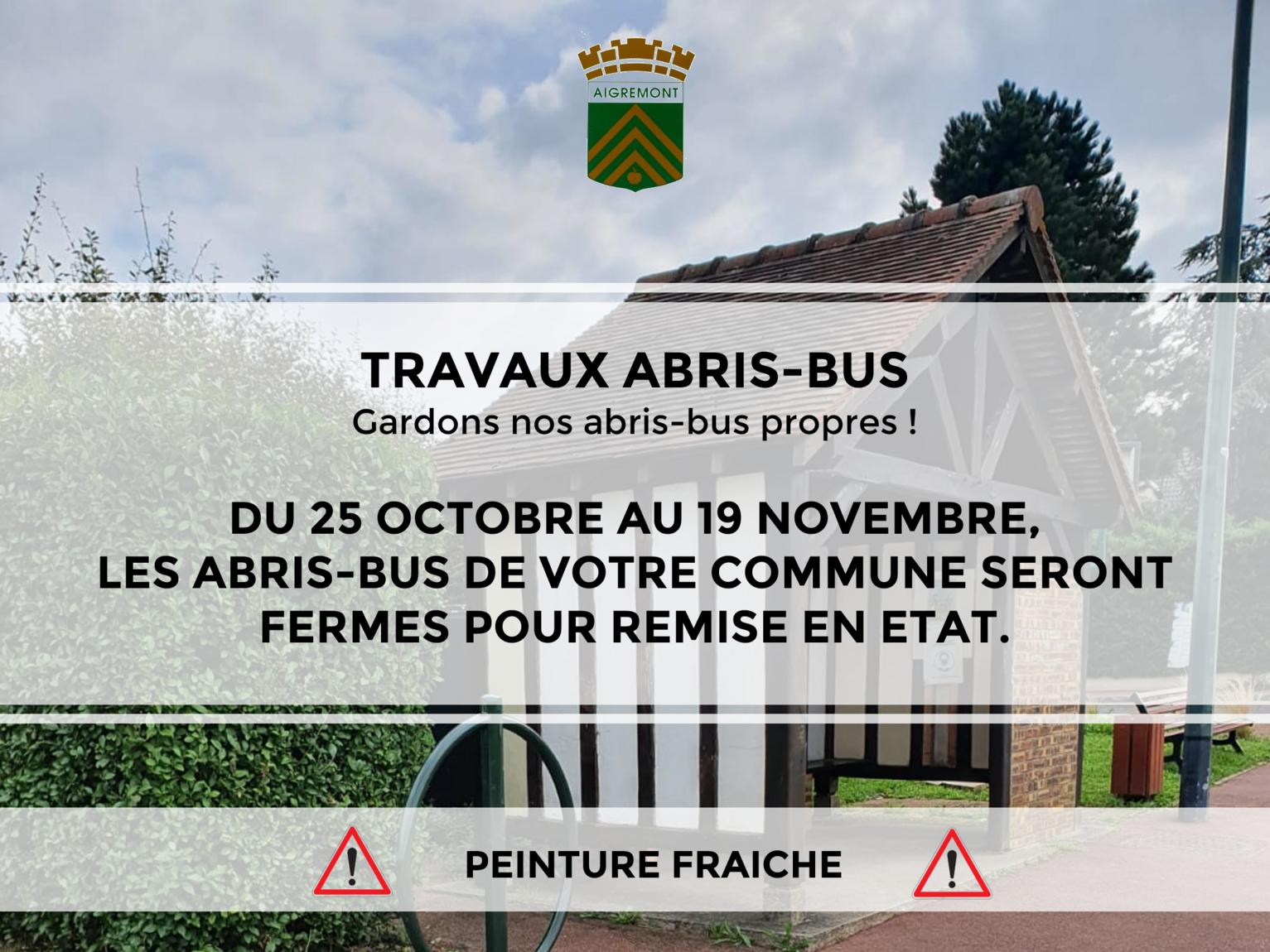 TRAVAUX ABRIS BUS