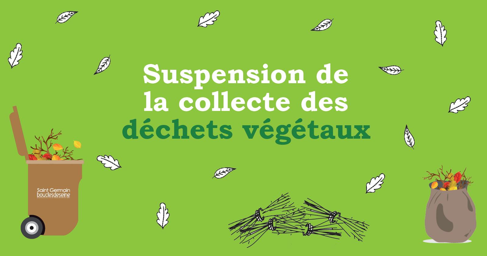 Suspension de la collecte des déchets végétaux pendant l'été !
