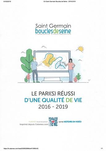 Communauté d'Agglomération St Germain Boucles de Seine 2016-2019