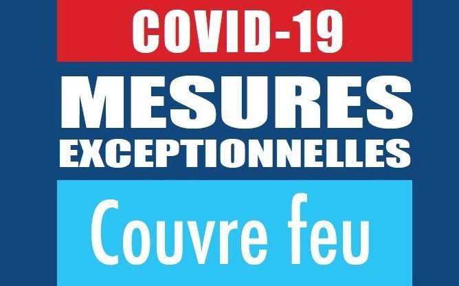COVID19 - Urgence sanitaire - Mesures relatives au couvre-feu