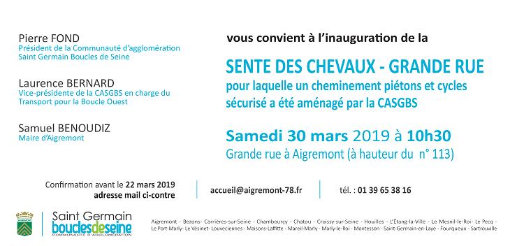Inauguration Sente cyclo-piétonne